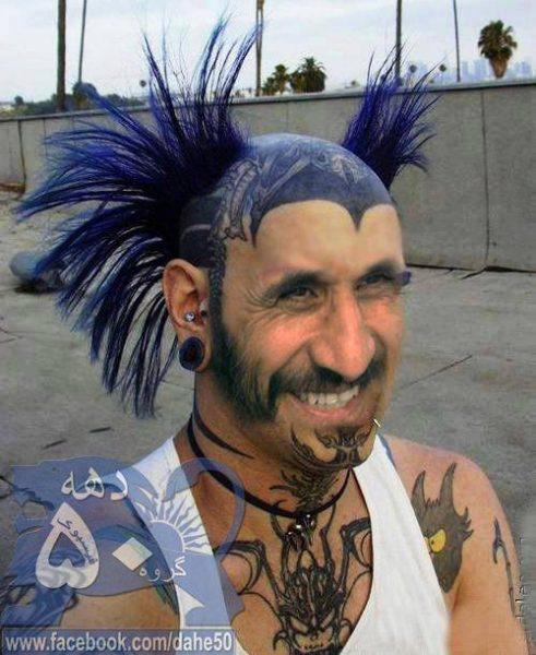 crazy-hairs-n-biomechanical-tattoo-on-head