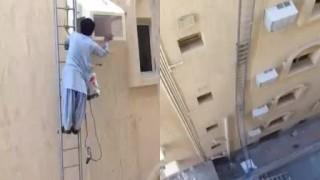 地上20mだろうが梯子一本で登るインド人が怖い