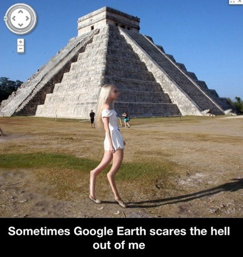 funny-Google-Earth-street-view-pyramid-monster
